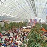 Immer wieder ein Augenschmaus: die Glashalle der Leipziger Buchmesse.